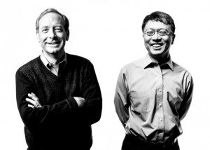 Brad Smith, Microsoft president and chief legal officer, and Harry Shum, executive vice president of Microsoft's Artificial Intelligence and Research group, wrote the foreword to 'The Future Computed.' (Microsoft Photo)